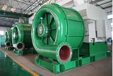 The first multi-stage centrifugal negative pressure vacuum fan of our company was officially put into operation in Hengan Group